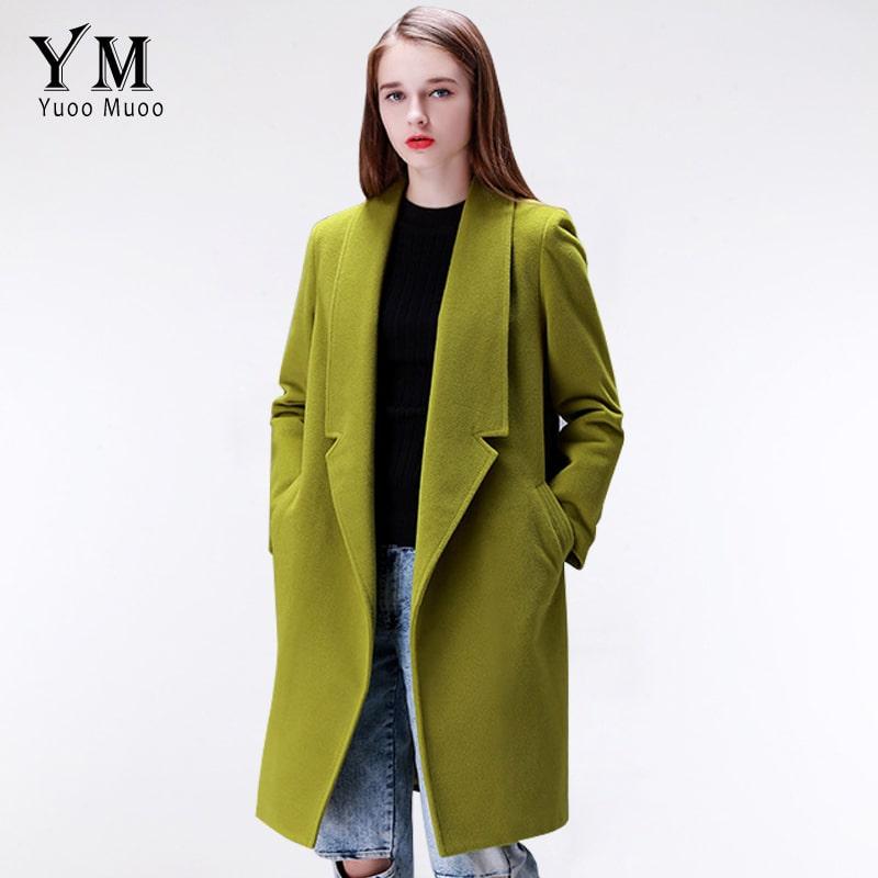 YuooMuoo Brand Design Winter Coat Women Warm Cotton Padded Wool Long Womens Cashmere European Fashion Jacket Outwear